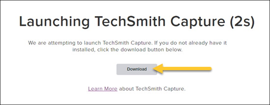Download and update TechSmith Capture