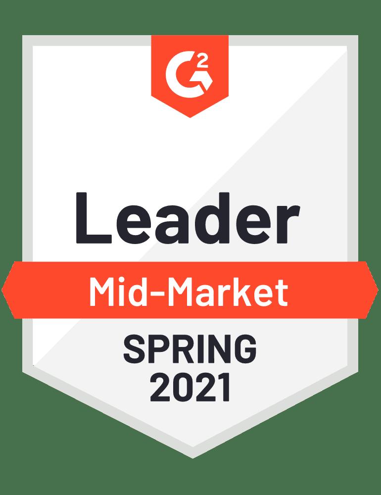 Award logo- Leader mid-market Spring 2021