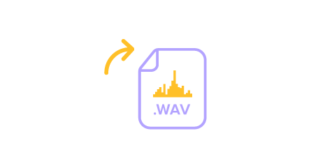 Illustration of a WAV file to indicate saving audio.