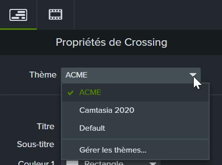 Drop down menu add theme