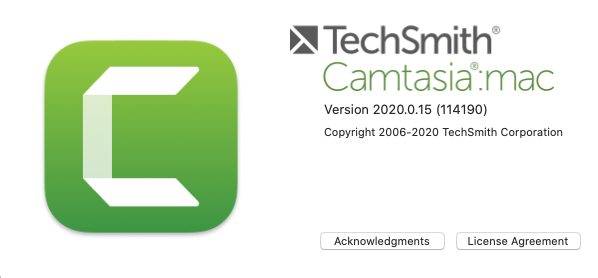 Find your Camtasia on Mac version
