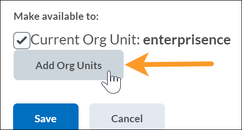 Add org units button