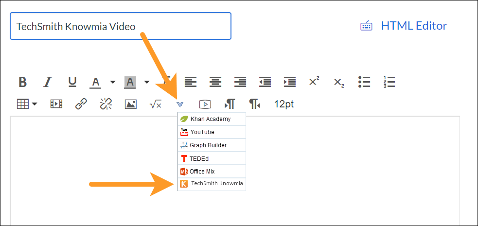 Knowmia showing in Canvas menu