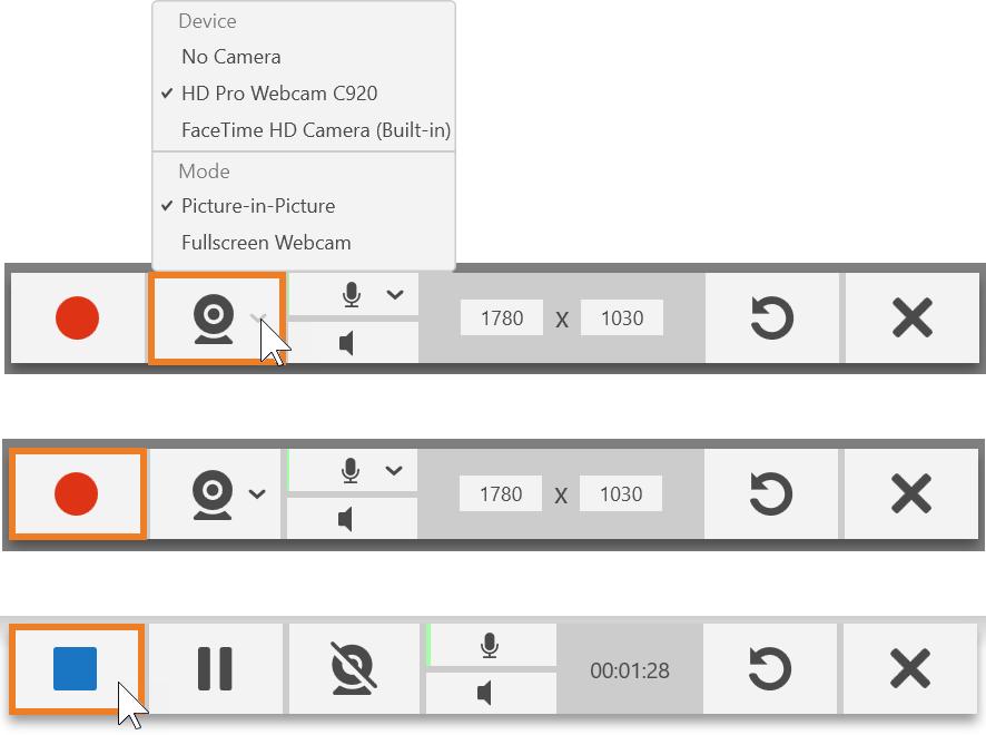 TechSmith Capture Toolbars