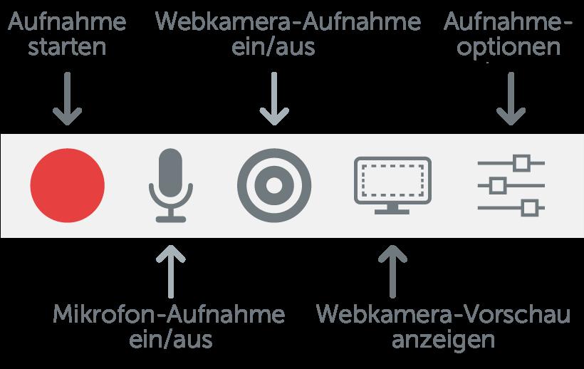 Das Camtasia PowerPoint Add-In stellt zuverlässige Optionen für die Aufnahme bereit, die Sie an Ihre Anforderungen anpassen können.