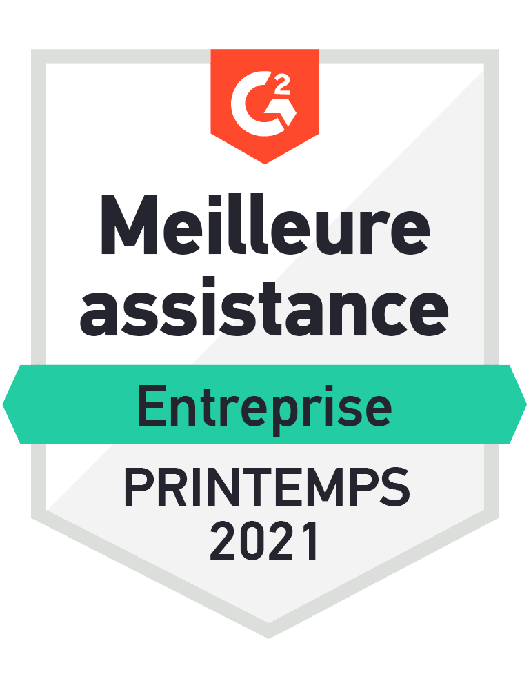 Award icon- Best support enterprise Spring 2021