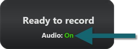 Image of the audio on message in Snagit(Windows)
