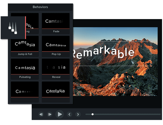 Camtasia video editor effects