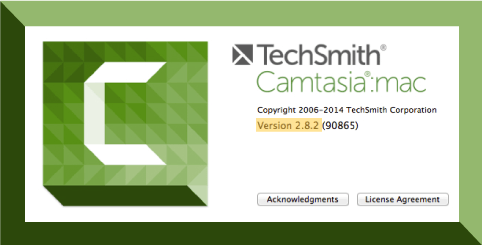 Camtasia Mac dialogue box