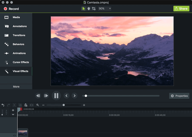 camtasia video editor assets
