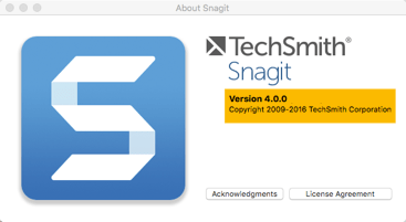 Snagit mac version page