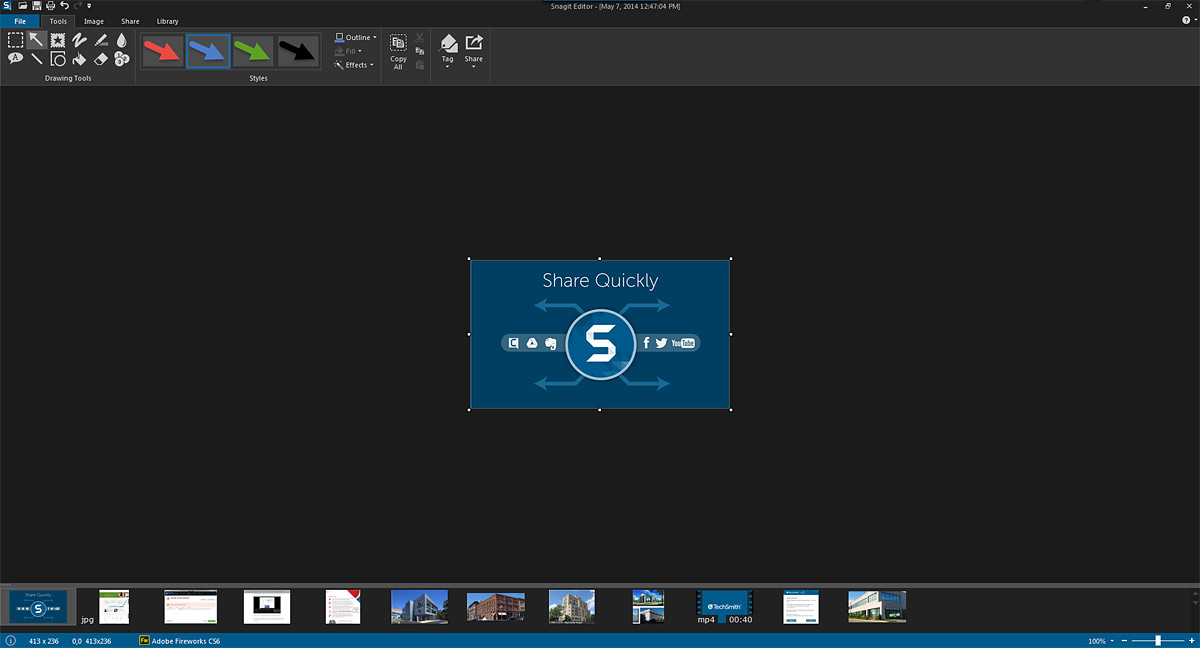 The user interface of Snagit for Windows 12 is shown.