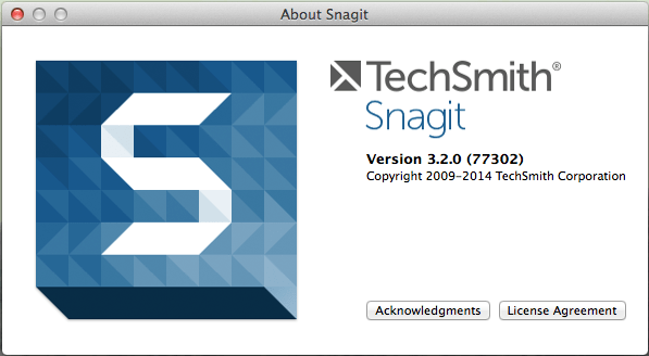 Snagit on Mac dialogue box