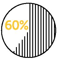 60 percent icon.
