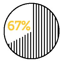 67 percent icon.