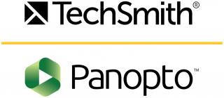 TechSmith and Panopto logos stacjed