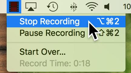 stop recording Mac
