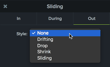sliding behaviors