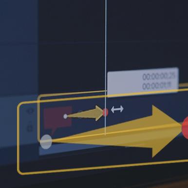 Camtasia timeline with an animation on a clip