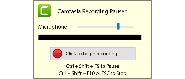 Camtasia recording dialogue that appears after ending a PowerPoint presentation