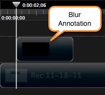 Drag annotation onto timeline