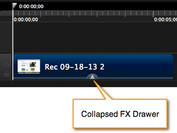 Collapsed FX drawer
