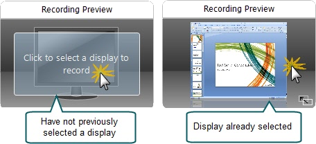 Select which display to record.