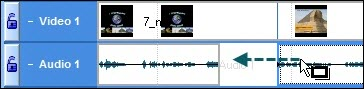 Drag audio clip along track