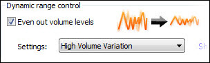 Even out volume levels option