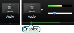 Audio option enabled