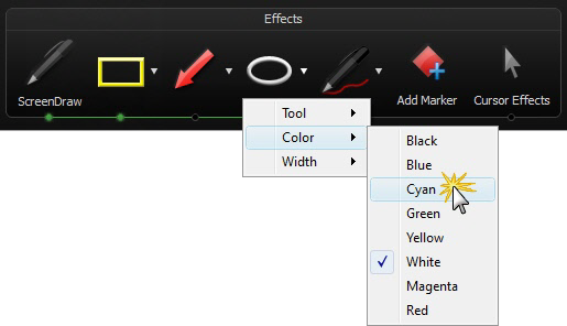 Select a ScreenDraw tool