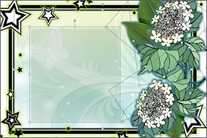 decorative background image with floral border