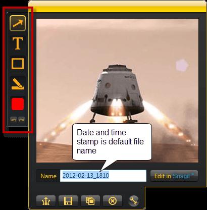 image editing interface