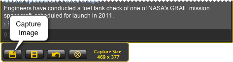 capture image button