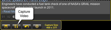 capture video button