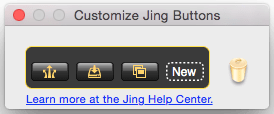Image of Customize Jing Buttons dialog