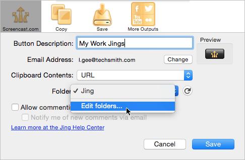Image of folder dropdown