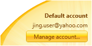 account info in preferences