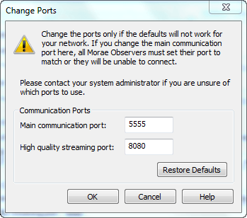 Recorder Communication Port dialog