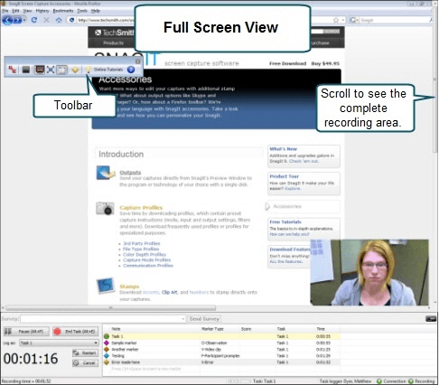 Full Screen view example