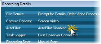 Click AutoPilot to change the options.