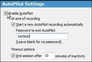 Click to enable AutoPilot.