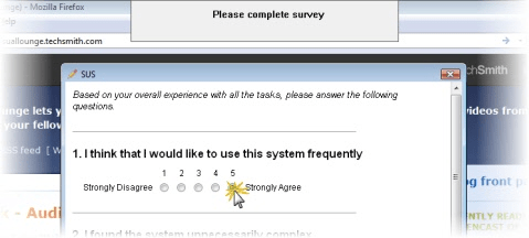 Survey in AutoPilot test.