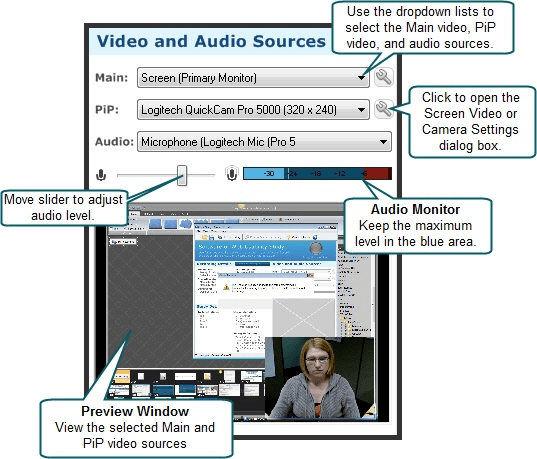 Recorder Video and Audio Sources