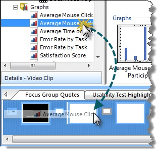 Drag a graph from the Project pane.