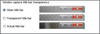 title bar transparency