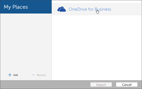 OneDrive for Business option