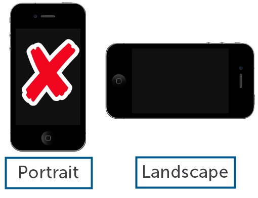 Landscape video orientation example