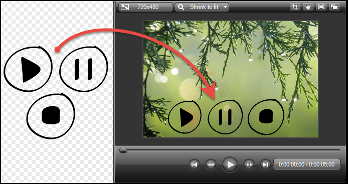 Example of an image with transparency used in Camtasia