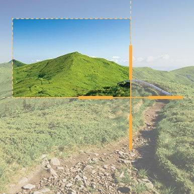 crosshairs capturing hilltop
